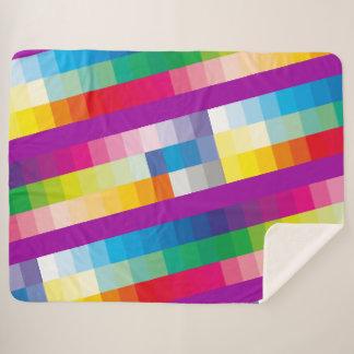 Couverture Sherpa Palette de couleur d'arc-en-ciel