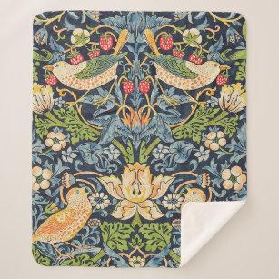 Couverture Sherpa Schéma floral William Morris Strawberry Thief