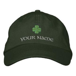 Couverture St Patrick irlandais de shamrock Casquette Brodée
