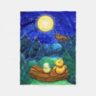 Couverture superbe de nuit de lune