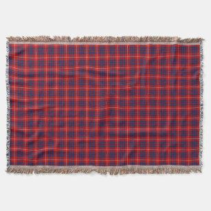 Couverture Tartan écossais bleu de Hamilton de clan et rouge