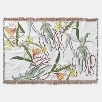 Couverture tropicale de jet de fleur de lis de