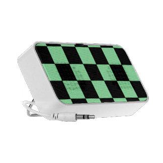 Couverture verte et noire au néon de haut-parleur