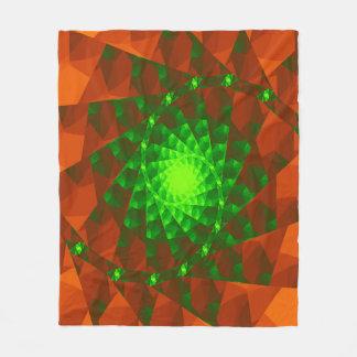 Couverture verte et orange géométrique d'ouatine