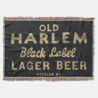 Couverture Vieille publicité de cru de bière blonde de Harlem