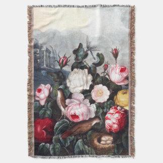 Couverture vintage de jet de roses