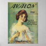 Couverture vintage de Songbook de chanson d'Avalon Poster