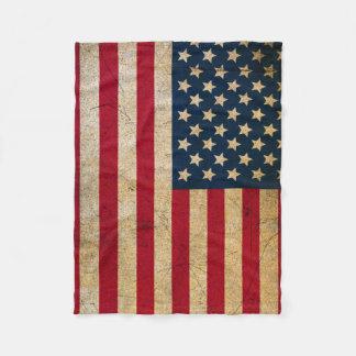 Couverture vintage d'ouatine de drapeau américain