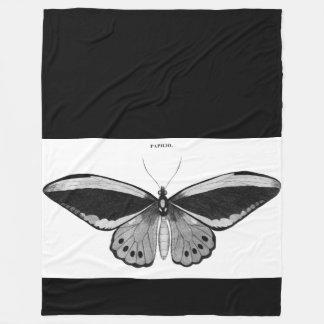 Couverture vintage d'ouatine de papillon