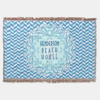 Couvertures Art déco Shell de Chambre de plage et coutume en