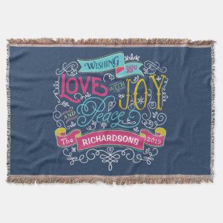 Couvertures Bannière de coutume de paix de joie d'amour de