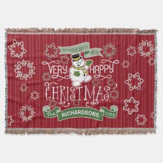 Couvertures Bannière de coutume de typographie de Noël heureux