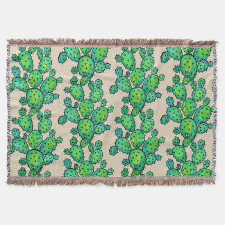 Couvertures Cactus épineux d'aquarelle magnifique