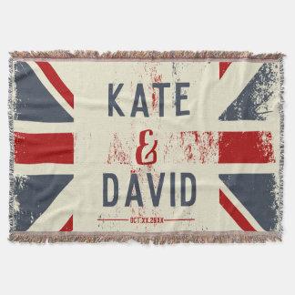 Couvertures Cadeau de mariage des noms du couple affligé