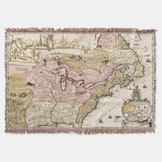Couvertures Carte française médiévale Amérique du Québec/de