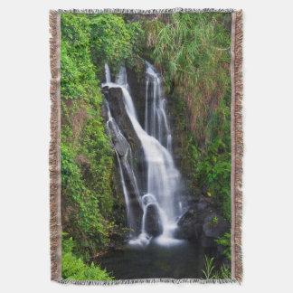 Couvertures Cascade, côte de Hamakua, Hawaï
