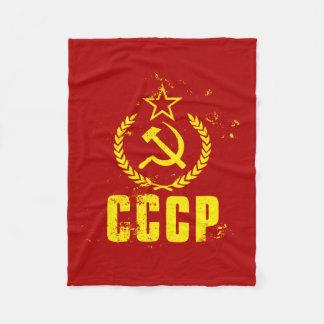 Couvertures communistes utilisées de drapeau de