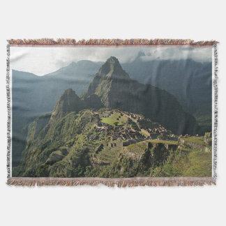 Couvertures Couverture/tenture de jet tissées par Picchu de
