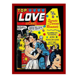 Couvertures de bande dessinée vintages de carte