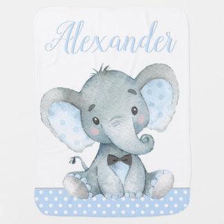 Couvertures de bébé d'éléphant de garçon