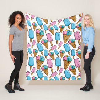 Couvertures d'ouatine de motif de crème glacée