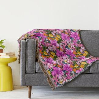 Couvertures Feuille et fleurs tropicaux