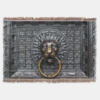 Couvertures Lion de heurtoir - noir/or