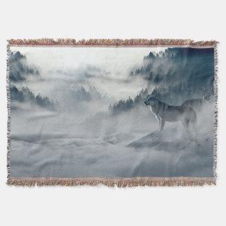 Couvertures Loups dans le paysage d'hiver de Milou