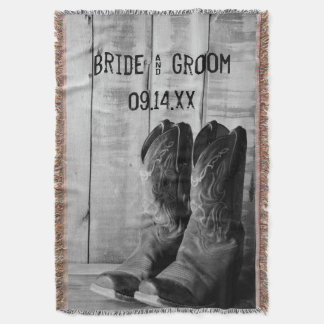 Couvertures Mariage occidental rustique de bottes de cowboy