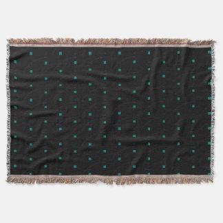 Couvertures Noir minuscule turquoise d'accent de carrés