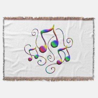 Couvertures Notes de musique et remous colorés d'amusement