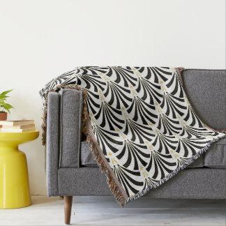 Couvertures Palmetto noir et blanc d'art déco vintage des