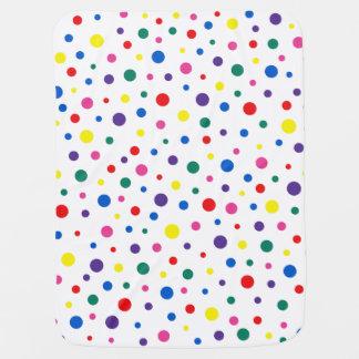 Couvertures Pour Bébé À petits pois multicolore de pois - cercle coloré