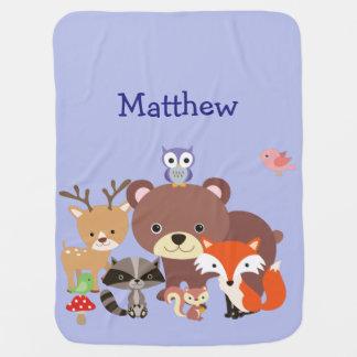 Couvertures Pour Bébé Amis animaux mignons dans la couverture en bois de