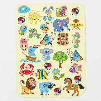 Couvertures Pour Bébé animaux de bande dessinée pour des enfants