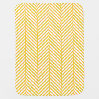 Couvertures Pour Bébé Arête de hareng jaune et blanche