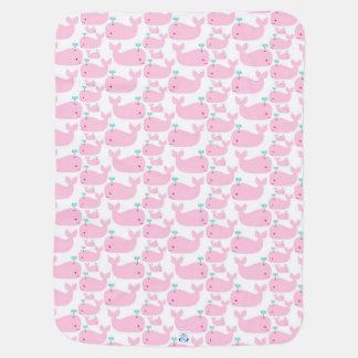 Couvertures Pour Bébé Baleines roses