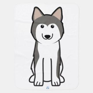 Couvertures Pour Bébé Bande dessinée de chien de chien de traîneau