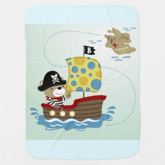 Couvertures Pour Bébé Chasse d'ours de pirate pour le trésor