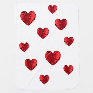 Couvertures Pour Bébé Coeur chaleureux de coeurs