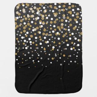 Couvertures Pour Bébé Confettis girly assez modernes de scintillement