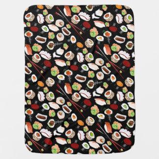 Couvertures Pour Bébé Couverture assortie de bébé de sushi
