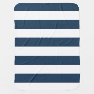 Couvertures Pour Bébé Couverture audacieuse de bleu marine et blanche de