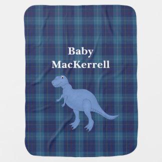 Couvertures Pour Bébé Couverture bleue de bébé de plaid de tartan de