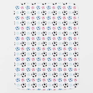 Couvertures Pour Bébé Couverture colorée de ballon de football de bébé