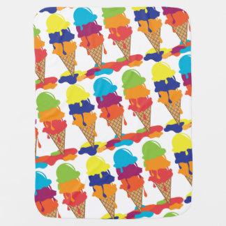 Couvertures Pour Bébé Couverture colorée de bébé de crème glacée