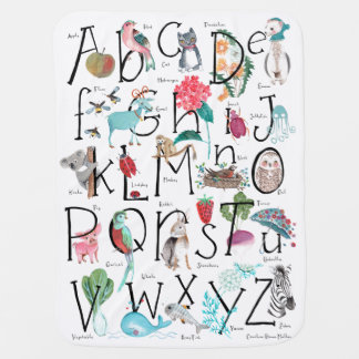 Couvertures Pour Bébé Couverture de poussette de bébé de l'alphabet |