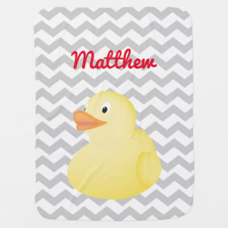 Couvertures Pour Bébé Couverture en caoutchouc jaune de bébé de canard