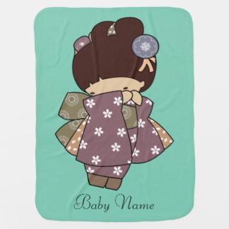 Couvertures Pour Bébé Couverture japonaise de bébé de fille de kimono