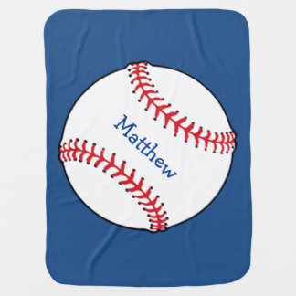 Couvertures Pour Bébé Couverture patriotique de bébé de base-ball